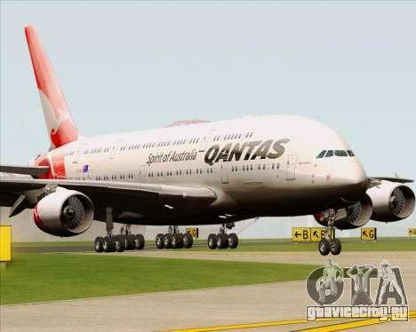 Airbus A380-841 Qantas для GTA San Andreas вид слева