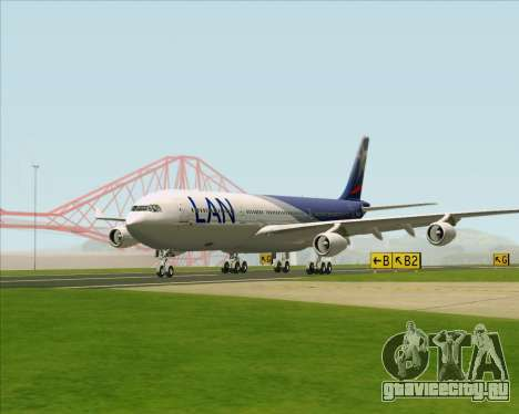 Airbus A340-313 LAN Airlines для GTA San Andreas вид изнутри