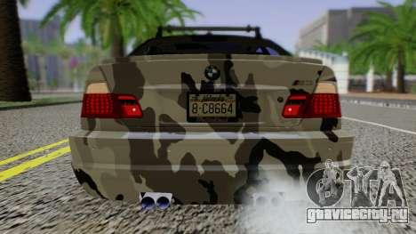 BMW M3 E46 Coupe 2005 Hellaflush v2.0 для GTA San Andreas вид справа