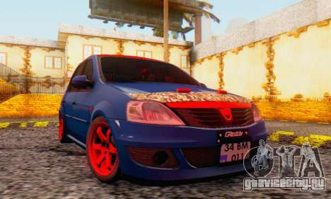Dacia Logan Turkey Tuning для GTA San Andreas вид сбоку