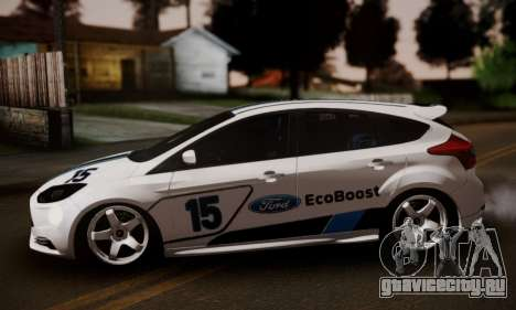Ford Focus ST Eco Boost для GTA San Andreas вид сзади слева