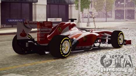 Ferrari F138 v2 для GTA 4 вид слева