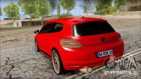 Volkswagen Scirocco Soft Tuning для GTA San Andreas вид сзади слева