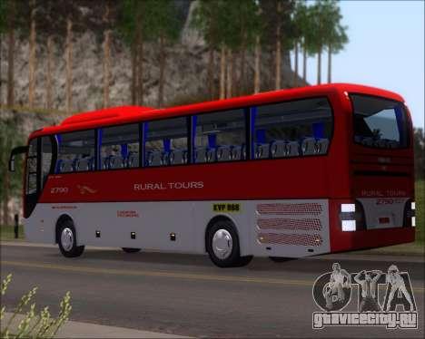 MAN Lion Coach Rural Tours 2790 для GTA San Andreas вид сзади слева