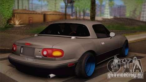Mazda Miata для GTA San Andreas вид слева