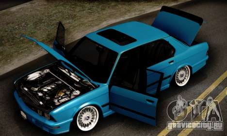 BMW M5 E28 для GTA San Andreas вид сверху