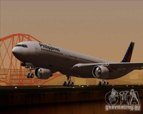 Airbus A330-300 Philippine Airlines для GTA San Andreas вид сзади