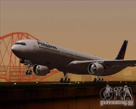 Airbus A330-300 Philippine Airlines для GTA San Andreas вид сзади