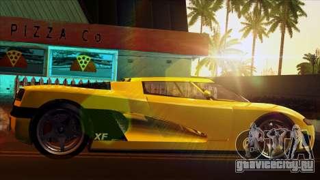 GTA 5 Entity XF для GTA San Andreas вид сзади слева