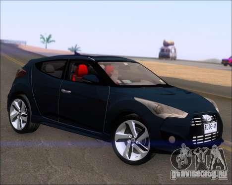 Hyundai Veloster 2013 для GTA San Andreas вид сзади слева