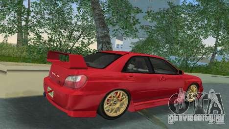 Subaru Impreza WRX 2002 Type 6 для GTA Vice City вид справа