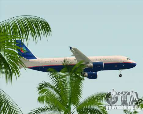 Airbus A320-232 United Airlines (Old Livery) для GTA San Andreas вид снизу