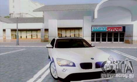 Bmw X1 для GTA San Andreas вид сзади слева