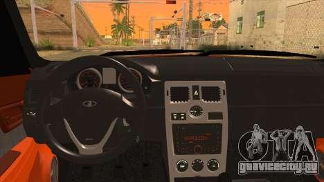 Lada 2170 Priora Апельсин для GTA San Andreas вид сзади слева