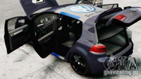 Volkswagen Golf R 2010 Polo WRC Style PJ2 для GTA 4 вид сзади