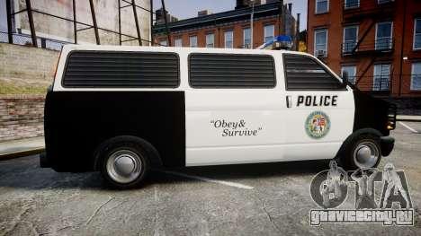 Declasse Burrito Police Transporter ROTORS [ELS] для GTA 4 вид слева
