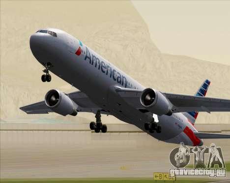 Boeing 767-323ER American Airlines для GTA San Andreas вид снизу