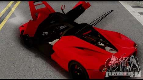 Ferrari LaFerrari 2014 (IVF) для GTA San Andreas вид справа