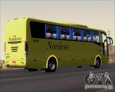 Busscar Elegance 360 Viacao Nordeste 8070 для GTA San Andreas вид справа