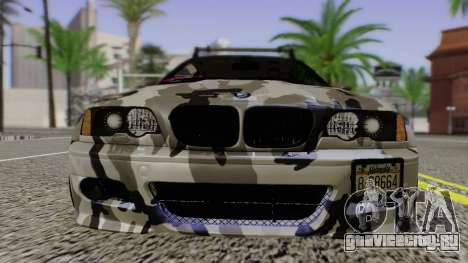 BMW M3 E46 Coupe 2005 Hellaflush v2.0 для GTA San Andreas вид сзади