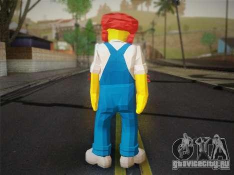 Садовник Вилли (The Simpsons: Road Rage) для GTA San Andreas второй скриншот