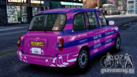 London Taxi Cab v1 для GTA 4 вид слева