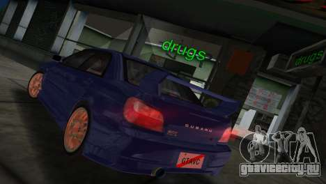 Subaru Impreza WRX 2002 Type 2 для GTA Vice City вид справа