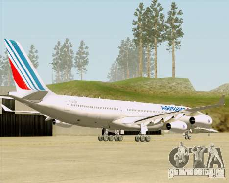 Airbus A340-313 Air France (New Livery) для GTA San Andreas вид сзади слева