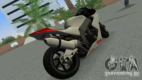 Aprilia RSV4 2009 Gray Edition для GTA Vice City вид сзади слева