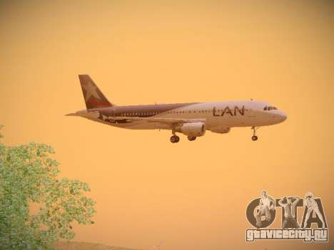 Airbus A320-214 LAN Airlines для GTA San Andreas вид сзади