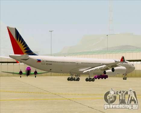 Airbus A340-313 Philippine Airlines для GTA San Andreas вид сзади