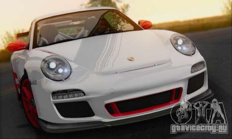 Porsche 911 GT3 2010 для GTA San Andreas вид сзади