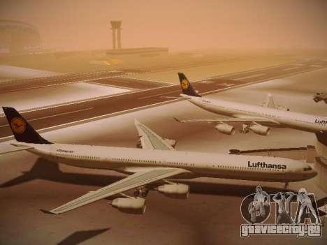 Airbus A340-600 Lufthansa для GTA San Andreas вид изнутри