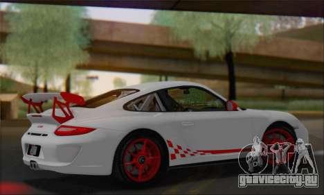 Porsche 911 GT3 2010 для GTA San Andreas вид изнутри