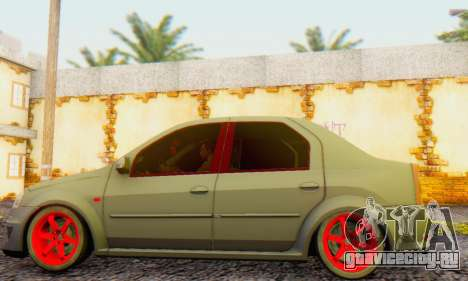 Dacia Logan Turkey Tuning для GTA San Andreas вид сзади слева