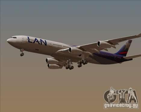 Airbus A340-313 LAN Airlines для GTA San Andreas вид сбоку