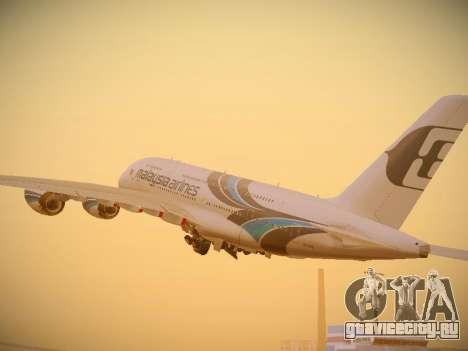 Airbus A380-800 Malaysia Airlines для GTA San Andreas вид справа