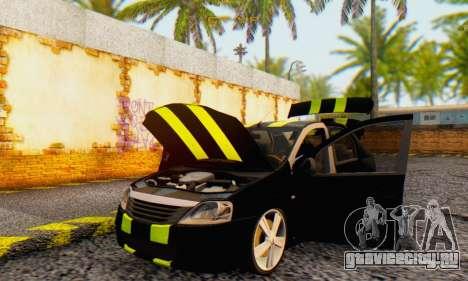 Dacia Logan Black Style для GTA San Andreas вид изнутри