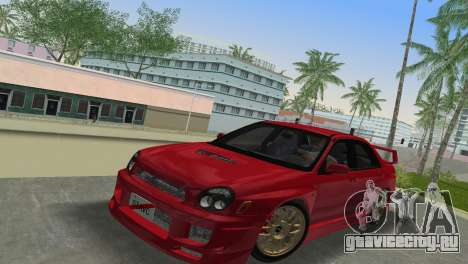 Subaru Impreza WRX 2002 Type 6 для GTA Vice City