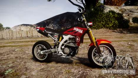 Yamaha YZF-450 SuperMoto Custom для GTA 4 вид слева