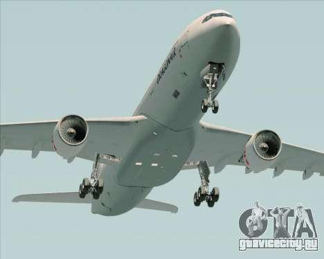 Airbus A330-300 Dragonair для GTA San Andreas вид снизу