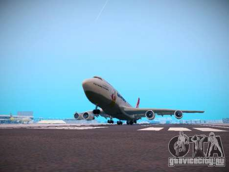 Boeing 747-438 Qantas Boxing Kangaroo для GTA San Andreas вид снизу