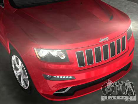 Jeep Grand Cherokee SRT-8 (WK2) 2012 для GTA Vice City вид справа
