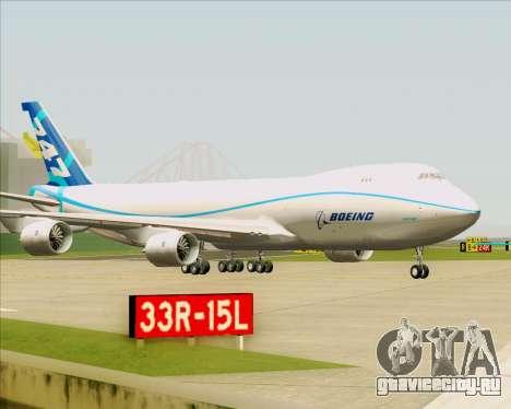 Boeing 747-8 Cargo House Livery для GTA San Andreas вид сверху
