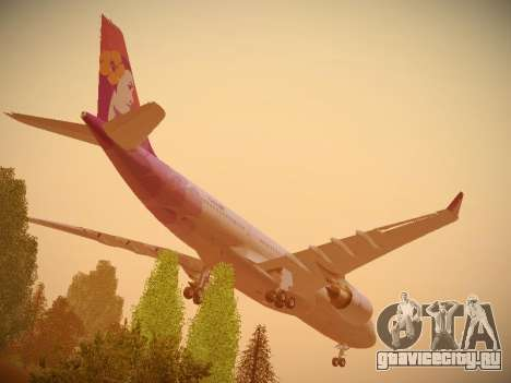 Airbus A330-200 Hawaiian Airlines для GTA San Andreas вид снизу