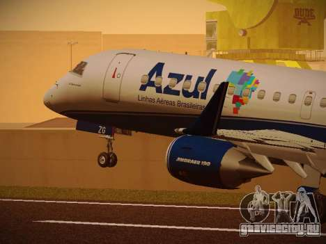 Embraer E190 Azul Brazilian Airlines для GTA San Andreas