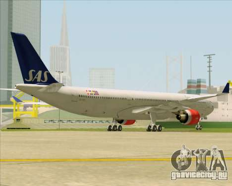 Airbus A330-300 Scandinavian Airlines System. для GTA San Andreas вид справа