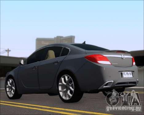 Opel Insignia OPC для GTA San Andreas вид сзади слева