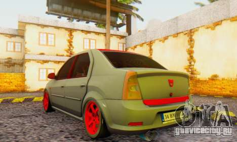 Dacia Logan Turkey Tuning для GTA San Andreas вид слева