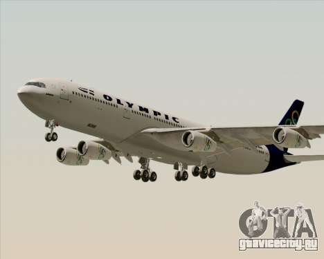 Airbus A340-313 Olympic Airlines для GTA San Andreas двигатель